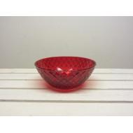 2-Have rød glas skål