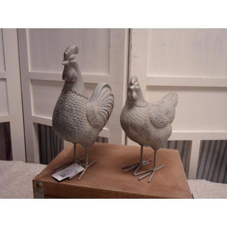Chic Antique Hønse sæt - Hane og Høne
